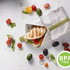 Envelope para Porta-Sanduíche Fuel Branco e Verde