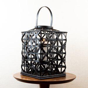 Lanterna Bamboo Preta 39cm