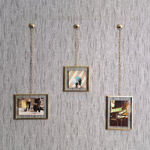 Painel Fotochain Umbra Dourado com 3 Peças