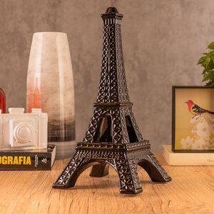 Enfeite de Cerâmica Torre Eiffel Preta 39cm