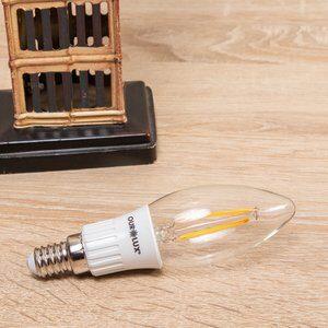 Lâmpada Filamento de Led 3w E14 Amarela Clara Ourolux