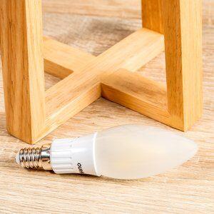 Lâmpada Filamento de Led 3w E14 Branca e Fosca Ourolux