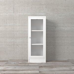 Porta para Estante Basic de Vidro Branca 95x39cm