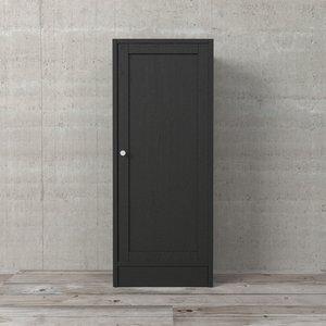Porta para Estante Basic Preta Texturizada 95x39cm