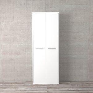 Jogo de Portas para Estante Disegno Branco com Brilho 210x75cm 2 Portas