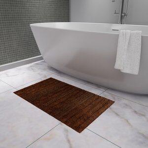 Tapete de Banheiro Stripes Marrom 50x80cm