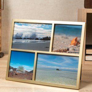 Porta-Retrato para 4 Fotos Senza Bronze