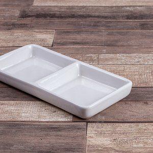 Petisqueira de Cerâmica Gourmet Branca 17x09cm