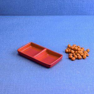 Petisqueira de Cerâmica Gourmet Vermelha 17x09cm
