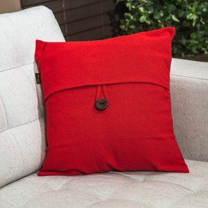 Capa para Almofada Romantic Vermelha 40x40cm