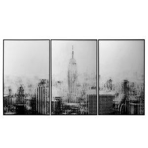 Quadro Tower Blurred Cities 3 peças 60x90cm
