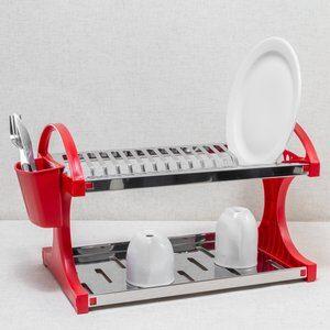 Escorredor de Louça Brinox Vermelho 31x08x33cm