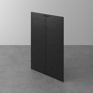 Jogo de Portas para Estante Kunst Branco e Canyon 117x38cm 2 Portas