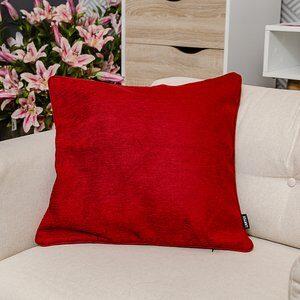 Capa para Almofada Berta Vermelha e Cinza 50x50cm