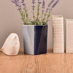 Vaso de Cerâmica Los Azul Escuro 17cm