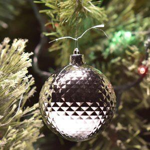 Jogo de Bolas de Natal Texturizado Preto, Prata e Branco 3 Peças