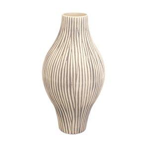 Vaso de Cerâmica Apple Cinza D22cm