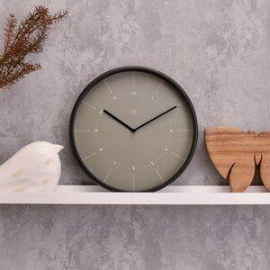 Relógio de Parede Cinza e Preto