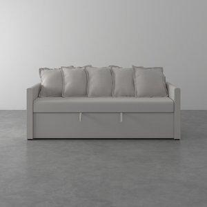 Sofa-Cama de 2 Lugares Emily Tramado Cru 200cm