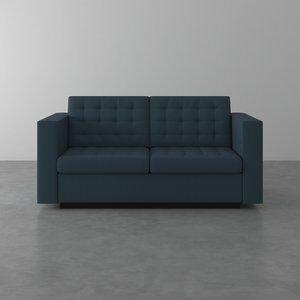 Sofá de 2 Lugares Albany Gaudi Marinho 175cm