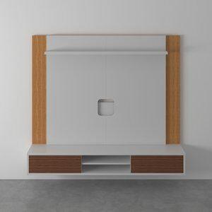 Conjunto para Home Theater Merida Branco e Mel 180cm