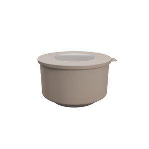 Pote de Plástico Hoop Cinza 2L