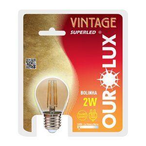 Lâmpada de Led Vintage 2W E27 2400K