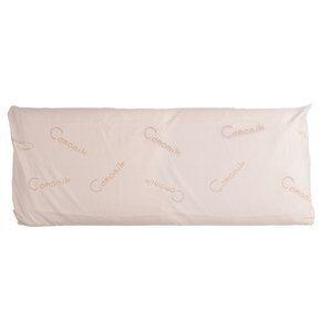 Capa de Travesseiro de Corpo Camomile Branca 50x135cm