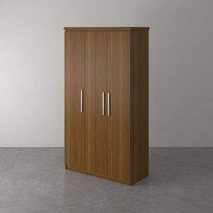 Guarda-Roupa com 3 Portas Trunk imbuia 125,5cm