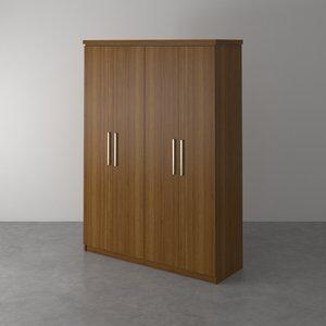 Guarda-Roupa com 4 Portas Trunk Imbuia 166,5cm