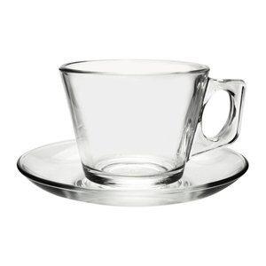 Jogo de Xícara de Chá e Pires Vale 12 Peças 195ml