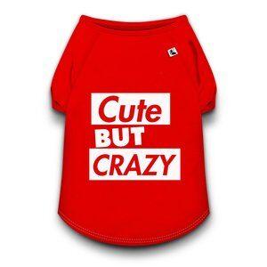 Camiseta Dog Total Crazy Vermelho G