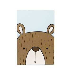 Placa Decorativa Urso 30x44cm