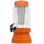 Torre Cervejeira de Vidro Com Dispenser de Gelo 3 L - Laranja