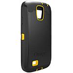 Capa para Celular Samsung Galaxy 4 Defender Preta com detalhe Amarelo - Otterbox