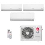 Ar Condicionado Multi Split Inverter LG 24.000 BTUs (3x Evap HW 11.900) Quente/Frio 220V