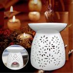 Suporte Essencial Da Vela Cerâmica Branca Da Fragrância Da Aromaterapia Do Queimador De Óleo 4  ''