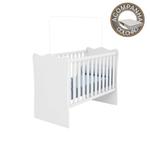 Berço Simples sem Rodízios Linha Doce Sonho Branco com Colchão 130x60 cm Baby Light Qmovi Ortobom