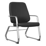 Cadeira Escritório Para Obeso Base Cromada Interlocutor Super Max Preta