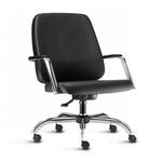Cadeira Escritório Para Obeso Diretor Super Max Preta e Cromada