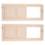 2Pcs Painel de ventilação de ar de sauna de cedro, 13x5.1 polegadas, Acessórios de sauna