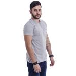 T-Shirt Masculina Cinza Tommy Hilfiger