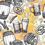Papel De Parede Chopp Festa Alemã Beer Autocolante