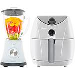 Kit Oster - Fritadeira Elétrica Sem Óleo Air Fryer + Liquidificador Superchef Branco 127v