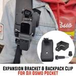 Expansão Handheld Stand Holder Backpack Clip Bracket Para DJI OSMO Pocket%