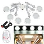 6 pcs 12 V Interior Branco LED Spot Light Dimmer com carregador para Camper Van Boat Caravan Motorhome VW T4 T5