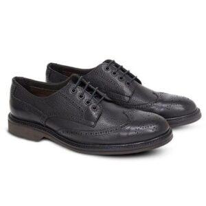 Sapato Casual Levanzzo Brogue Trento Masculino - Masculino-Preto