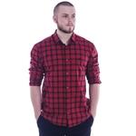 Camisa Masculina Xadrez Vermelho Tommy Hilfiger