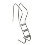 "Escada Confort 2"" C/ 3 Degraus Inox Duplo Sodramar"