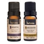 Kit Óleo Essencial Lavanda e Manjerona 10 ml - Via Aroma